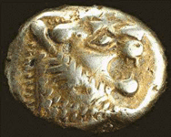 Lydia electrum coin. Oldest coin in the world.